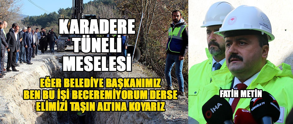 KARADERE SULARI MESELESİ...