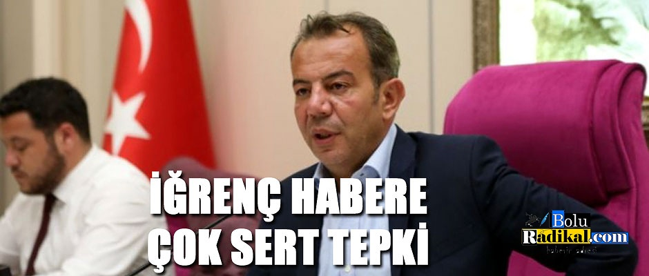 REZİL HABERE TEPKİ GÖSTERDİ...