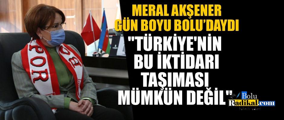 """AKŞENER: """"TÜRKİYE'NİN BU İKTİDARI TAŞIMASI MÜMKÜN DEĞİL"""""""