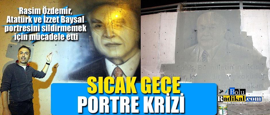 ALT GEÇİTTEKİ SİYASİ LİDER RESİMLERİ KALDIRILIYOR...