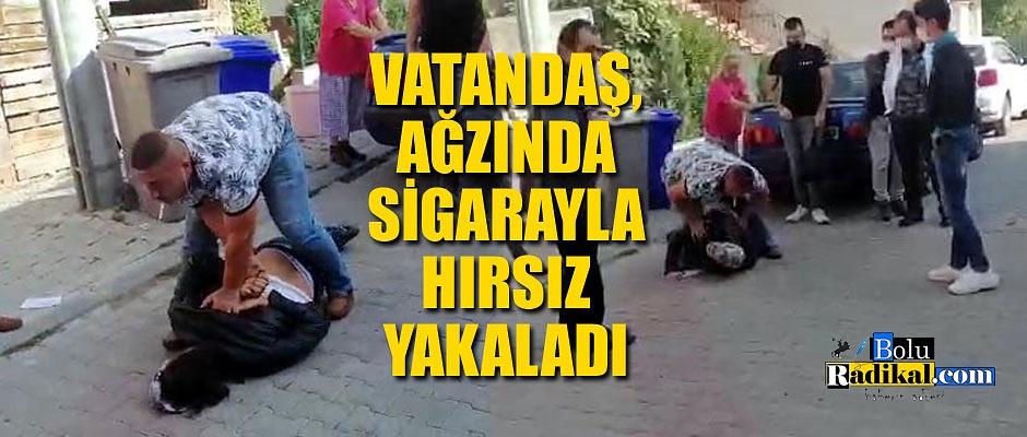 MARKET HIRSIZINI VATANDAŞLAR YAKALADI...