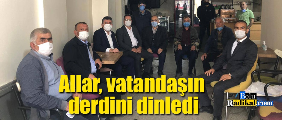 Mustafa Allar esnaf ve vatandaşlarla iç içe