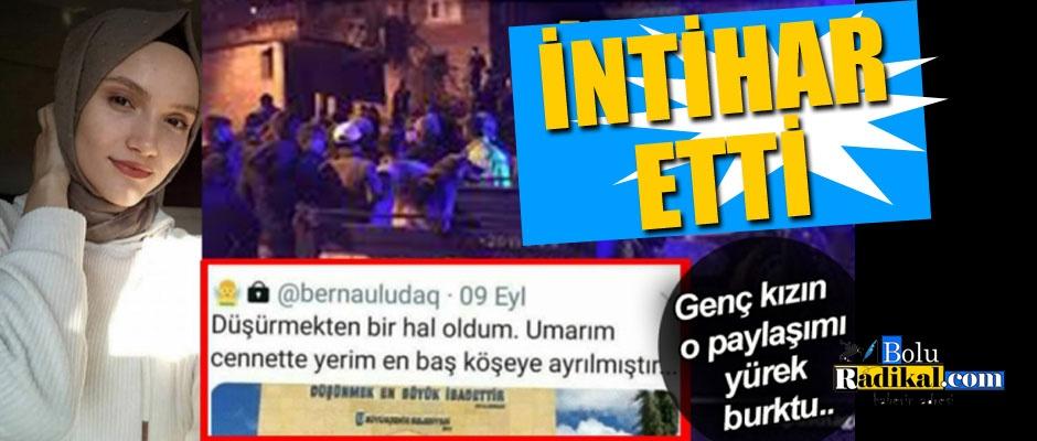 ÜNİVERSİTE ÖĞRENCİSİ İNTİHAR ETTİ...