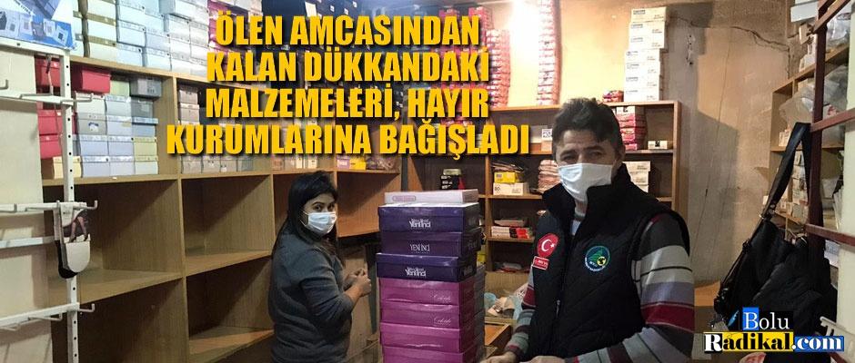 AMCASINDAN KALAN DÜKKANDAKİ EŞYALARI BAĞIŞLADI...