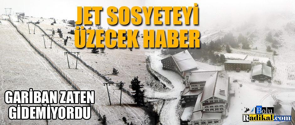 KARTALKAYA'YA BU YIL KAR GELMEDİ...
