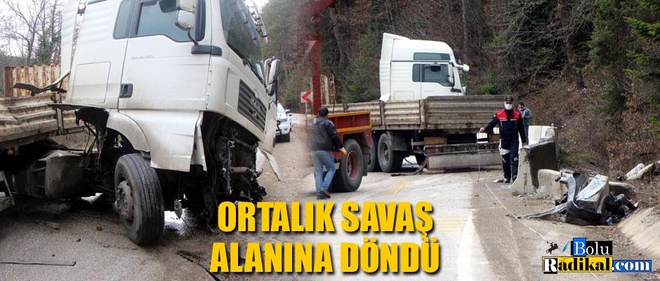 ABANT YOLU SAVAŞ ALANINA DÖNDÜ...