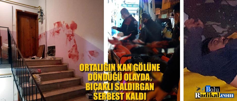 BIÇAKLI SALDIRGAN SERBEST KALDI...