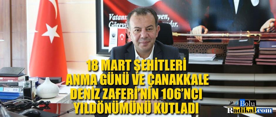 BAŞKAN ÖZCAN'IN 18 MART MESAJI...