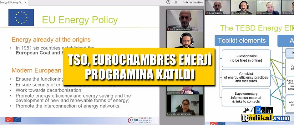TSO, EUROCHAMBRES ENERJİ PROGRAMINA KATILDI