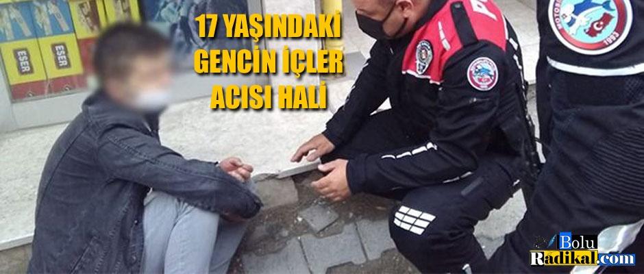 CADDEDE UYUŞTURUCU KOMASINA GİRDİ...