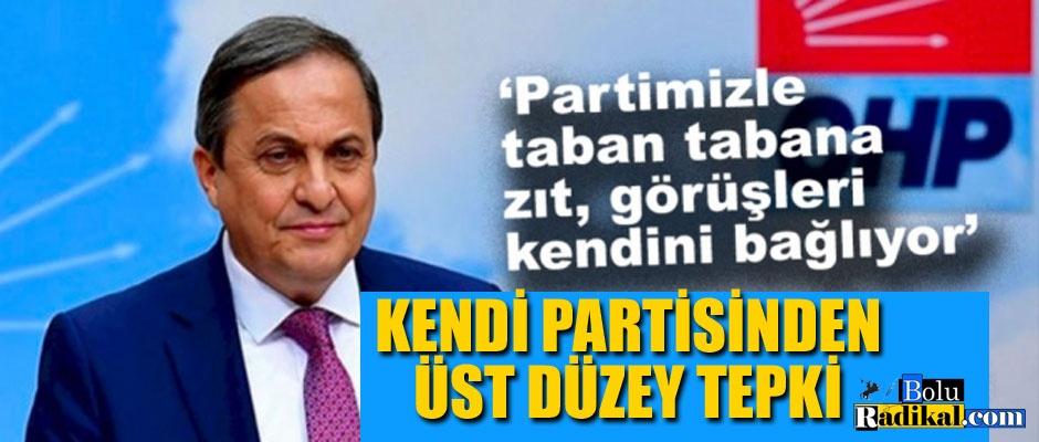 KENDİ PARTİSİNDEN TEPKİ GELDİ...