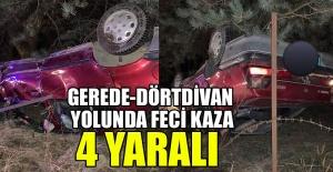 OTOMOBİL TAKLA ATTI...