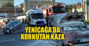 YENİÇAĞA'DA KAZA...