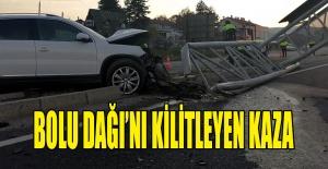 BOLU DAĞI'NI KİLİTLEYEN KAZA...