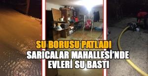 SARILACAK MAHALLESİ'NDE EVLERİ SU BASTI...