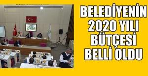 İŞTE BELEDİYENİN 2020 YILI BÜTÇESİ...