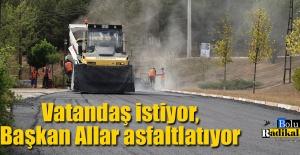 Gerede Belediyesi asfalt çalışmalarına hız verdi