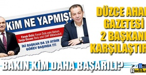 DÜZCE GAZETELERİ BAŞKAN ÖZCAN#039;I...