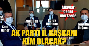 AK PARTİ GENEL MERKEZİNDELER..