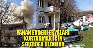 KIŞ GÜNÜ EVLERİ KULLANILAMAZ HALE...