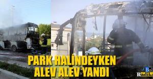 EKMEK TEKNESİ ALEV ALEV YANDI...