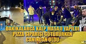 MOTOSİKLETLİ KURYENİN ACI ÖLÜMÜ...